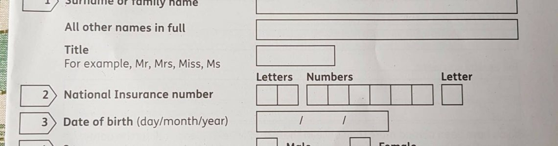 Attendance Allowance application form